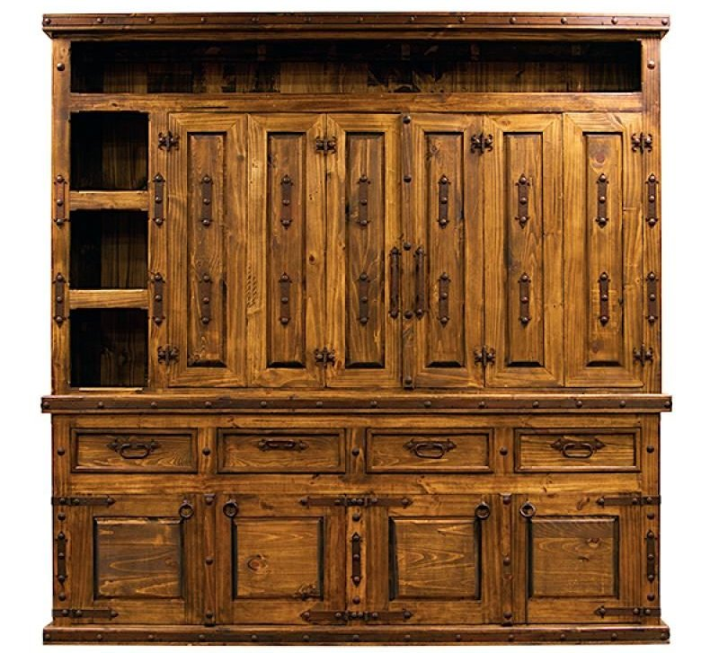 Rustic Entertainment Center with Folding Doors