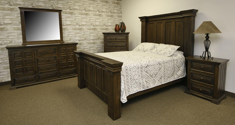 Terra Dark Rustic Bedroom Set