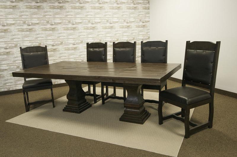 Terra Dark Rustic Dining Room Set
