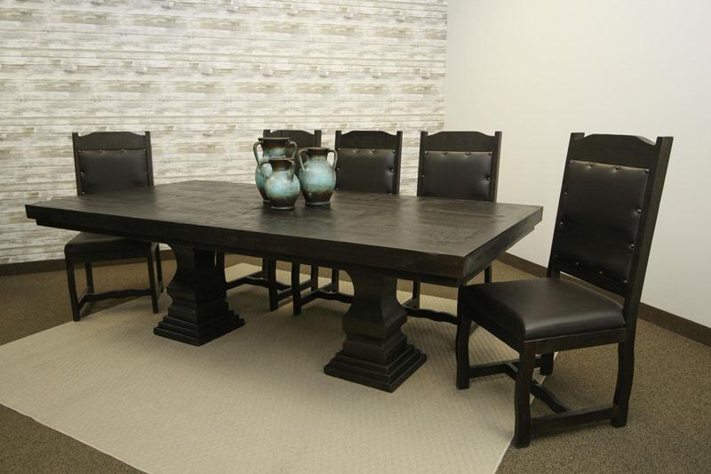Terra Extra Dark Rustic Dining Room Set