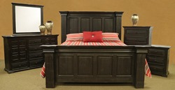 Terra Extra Dark Rustic Bedroom Set