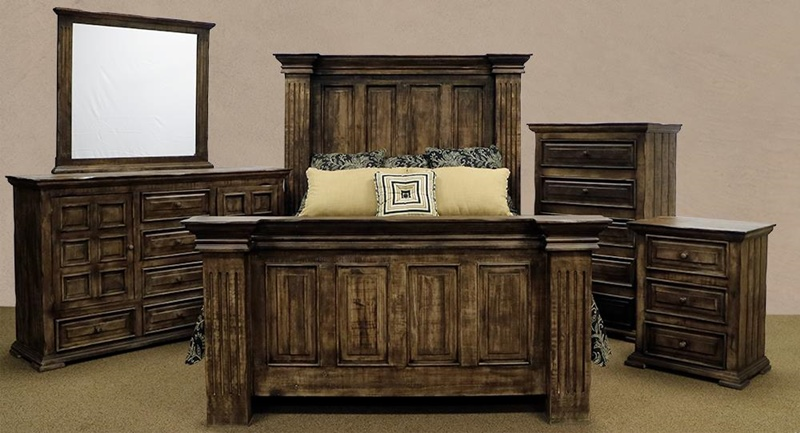 Terra Latte Rustic Bedroom Set