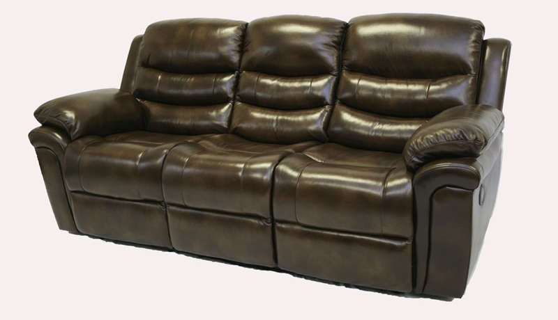 Uptown Reclining Leather Living Room Set