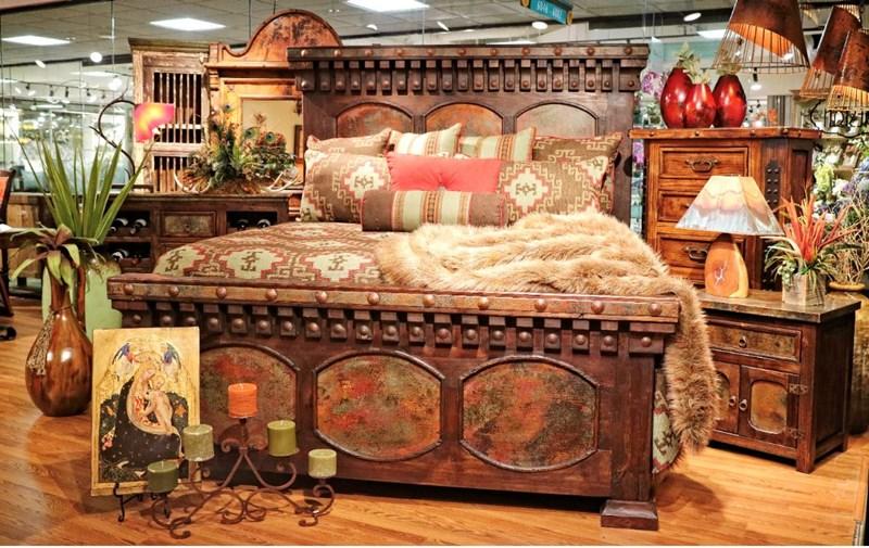 EL Cobre Copper Rustic Bedroom Set