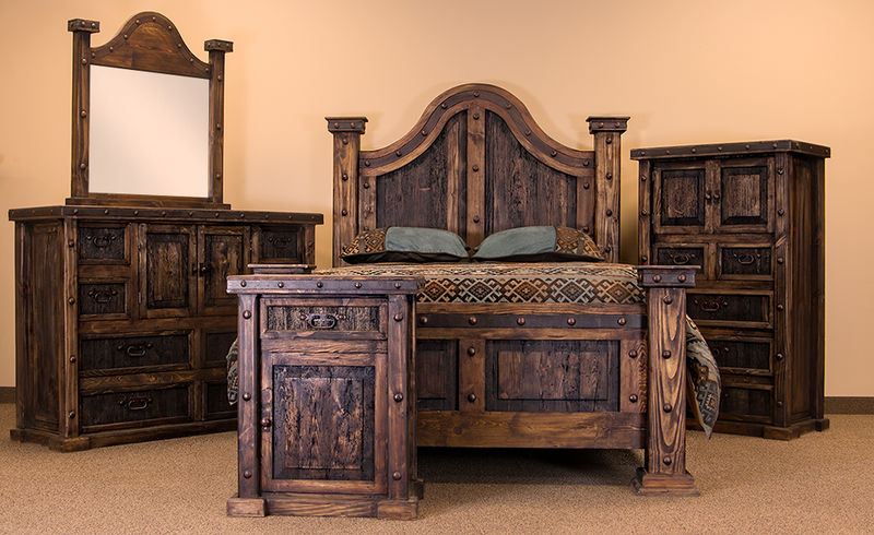 Modern Rustic Bedroom Set Decor