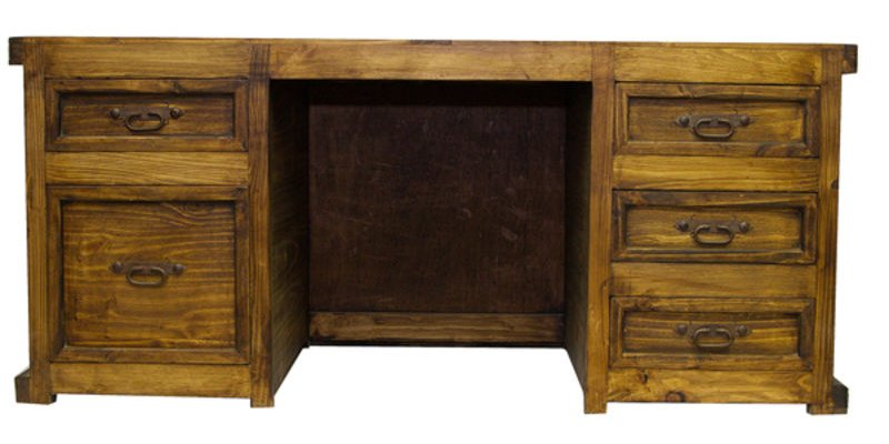 Laguna Rustic Desk with Reclaimed Wood Panels