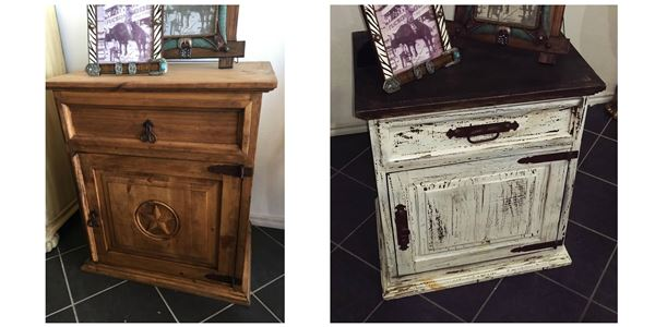 Large Rustic Night Stands
