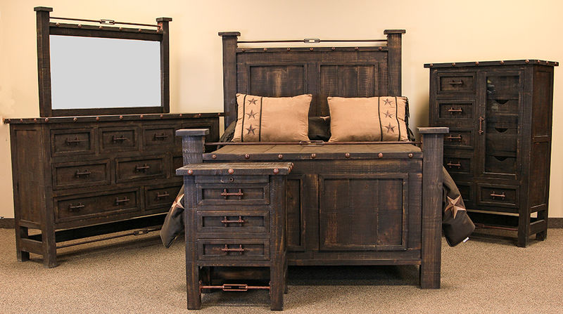Wonderful Rustic Bedroom Set Decoration