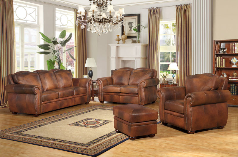 Arizona Top Grain Leather Living Room Set