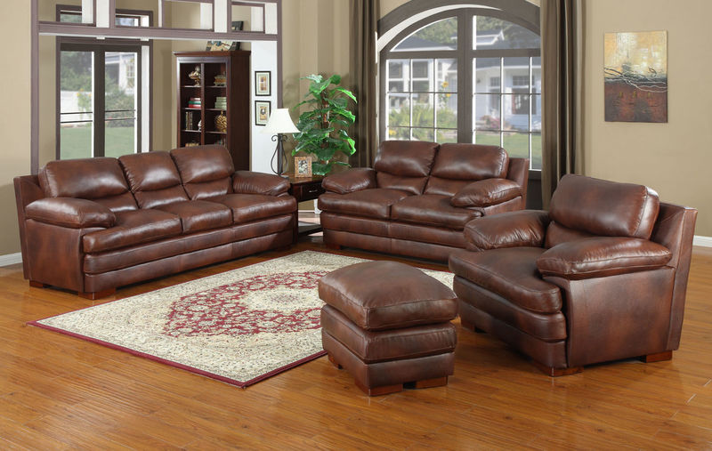 Baron Top Grain Leather Living Room Set