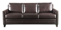 Fletcher Top Grain Leather Living Room Set in Brown