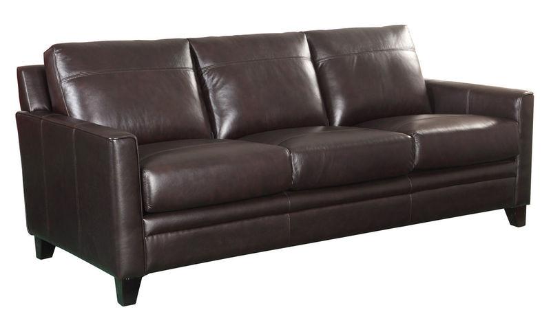 Fletcher Top Grain Leather Living Room Set in Brown