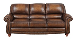 James Top Grain Leather Living Room Set in Monaco