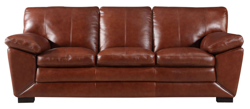Maeser Top Grain Leather Living Room Set