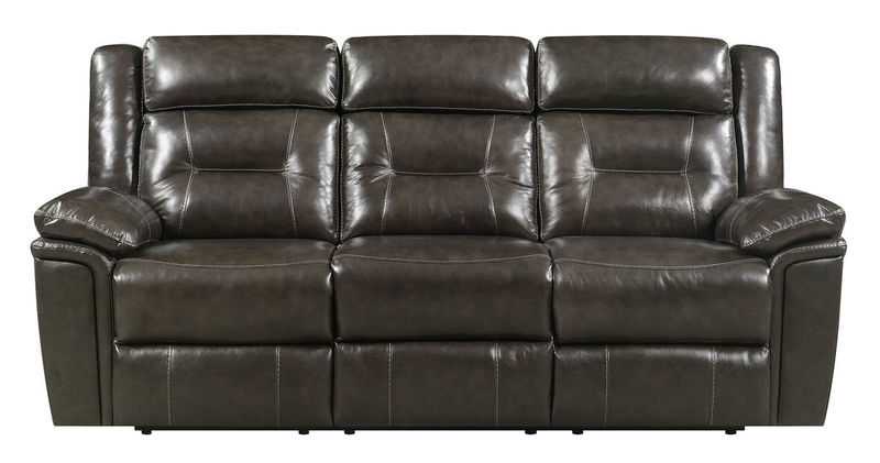 Monterey Top Grain Leather Reclining Living Room Set