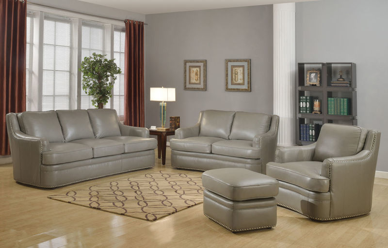 Tulsa Top Grain Leather Living Room Set