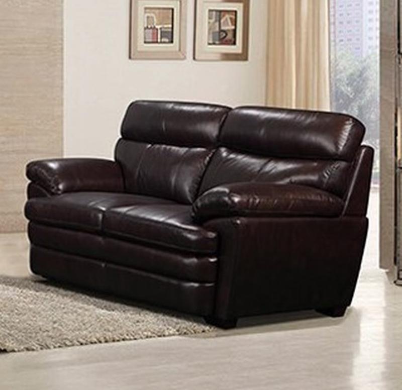 Scottsdale Leather Living Room Set in Dark Brown