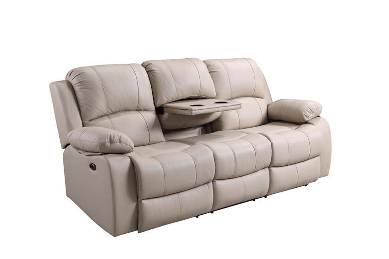 Winnfield Taupe Leather Reclining Living Room Set