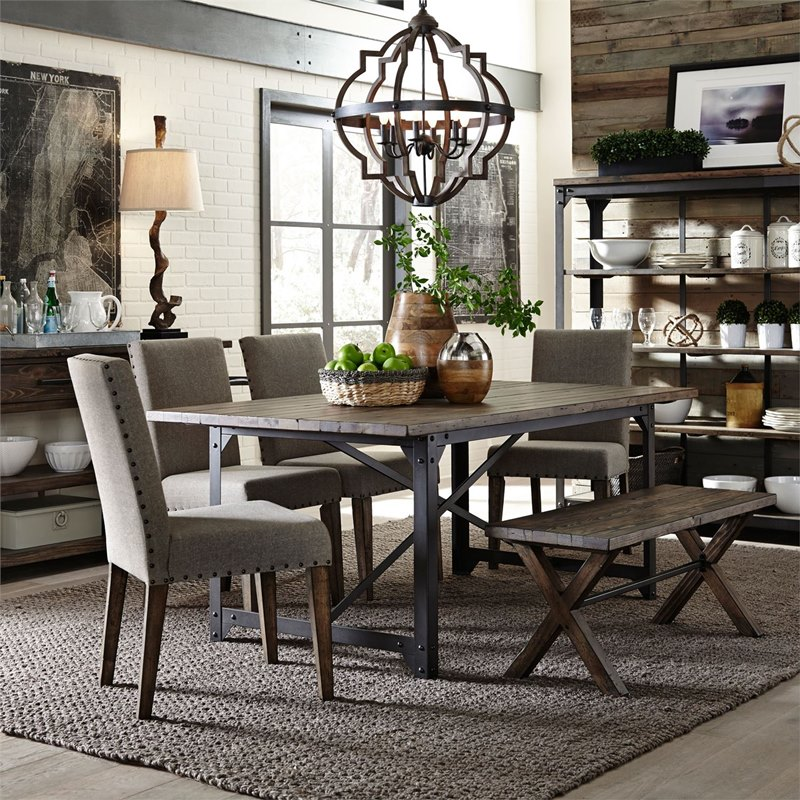 Cool Liberty 117 Cd Caldwell Dining Room Set With Bench Dallas Designer Furniture Caraccident5 Cool Chair Designs And Ideas Caraccident5Info