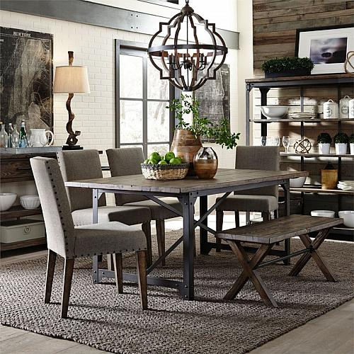 Caldwell Dining Room Set with Bench