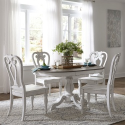 Magnolia Manor Formal Round Dining Room Set