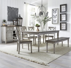 Cottage Lane Dining Room Set with Bench