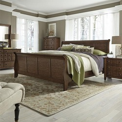 Grandpa's Cabin Bedroom Set in Pebble Rock