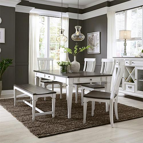 Allyson Park Dining Room Set with Bench