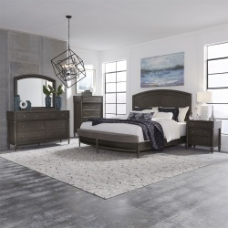 Essex Bedroom Set with Bench Footboard in Gray