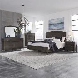 Essex Bedroom Set in Satin Gray