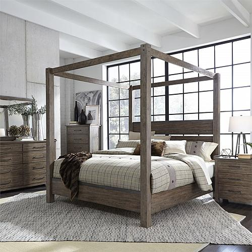 Sonoma Road Bedroom Set with Canopy Bed