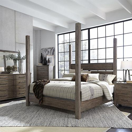 Sonoma Road Bedroom Set with Poster Bed