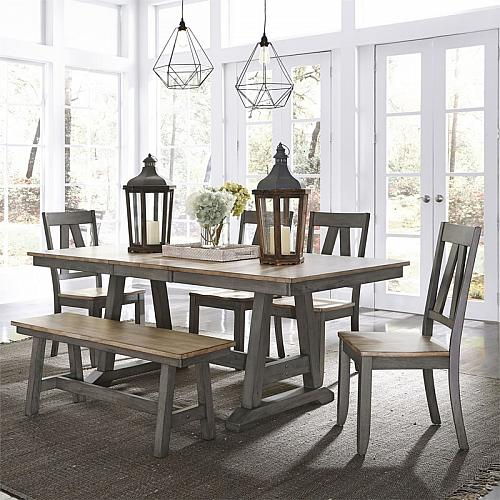 Lindsey Farm Dining Room Set with Bench