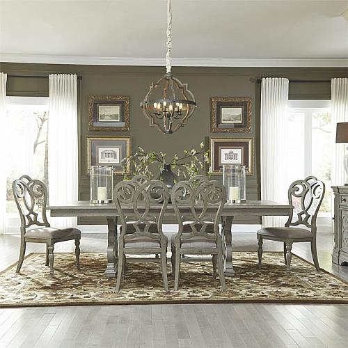 Grand Estates Formal Dining Room Set with Splat Back Chairs
