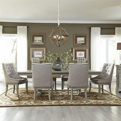 Grand Estates Formal Dining Room Set with Upholstered Chairs
