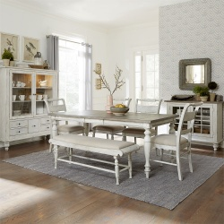 Whitney Dining Room Set with Leg Table and Bench