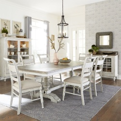 Whitney Dining Room Set with Trestle Base