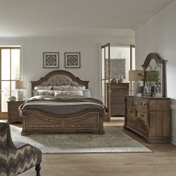 Haven Hall Bedroom Set with Upholstered Headboard
