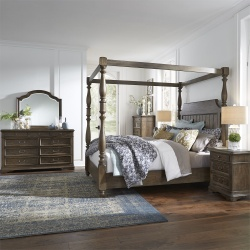 Homestead Bedroom Set with Canopy Bed