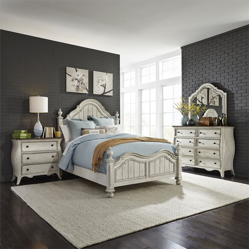 Liberty | 698-BR Parisian Marketplace Bedroom Set in Antique White | Dallas  Designer Furniture