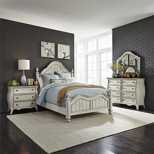 Parisian Marketplace Bedroom Set in Antique White