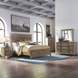 The Laurels Bedroom Set with Decorative Headboard