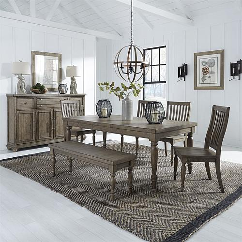Harvest Home Dining Room Set with Bench