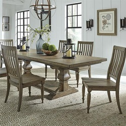 Harvest Home Dining Room Set with Trestle Base