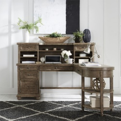 Harvest Home Office Desk Set in Barley Brown