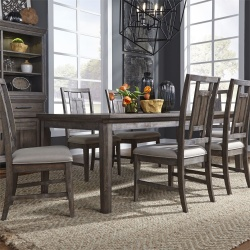 Artisan Prairie Leg Table Dining Room Set with Lattice Chairs