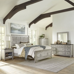 Heartland Bedroom Set with Decorative Headboard
