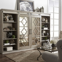 Mirrored Reflections Entertainment Center