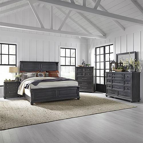 Harvest Home Bedroom Set in Chalkboard