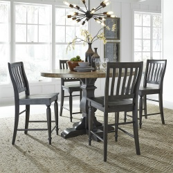 Harvest Home Counter Height Dining Room Set in Chalkboard
